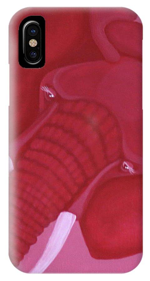 Crimson Elephant IPhone X Case