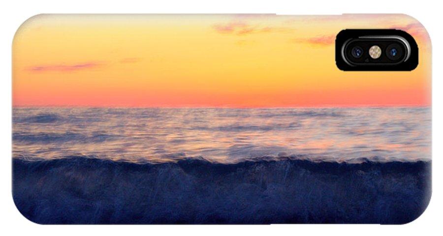 Grand Bend IPhone X Case featuring the photograph Crimson Wave Art by John Scatcherd
