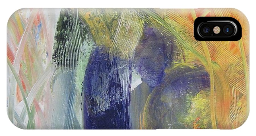 Original IPhone X Case featuring the painting Crocus by Martha Thompson