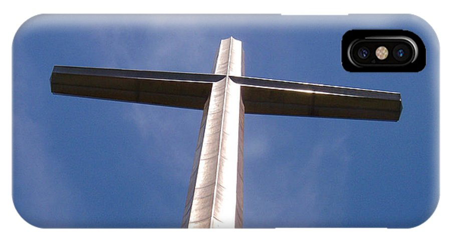 Cross IPhone X Case featuring the photograph Cross At St. Augustine by Kenneth Albin