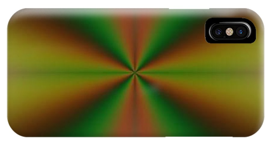 Digital Art IPhone X Case featuring the digital art Crossing I by Dragica Micki Fortuna