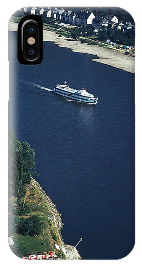 Boat IPhone X Case featuring the photograph Cruise Ship On The Rhine by Carl Purcell