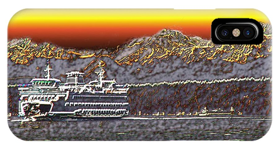 Seattle IPhone X Case featuring the photograph Cruisin The Sound by Tim Allen