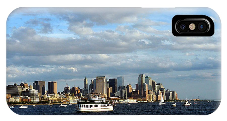 Water Boat IPhone X Case featuring the photograph Cruising On The Hudson by Kendall Eutemey