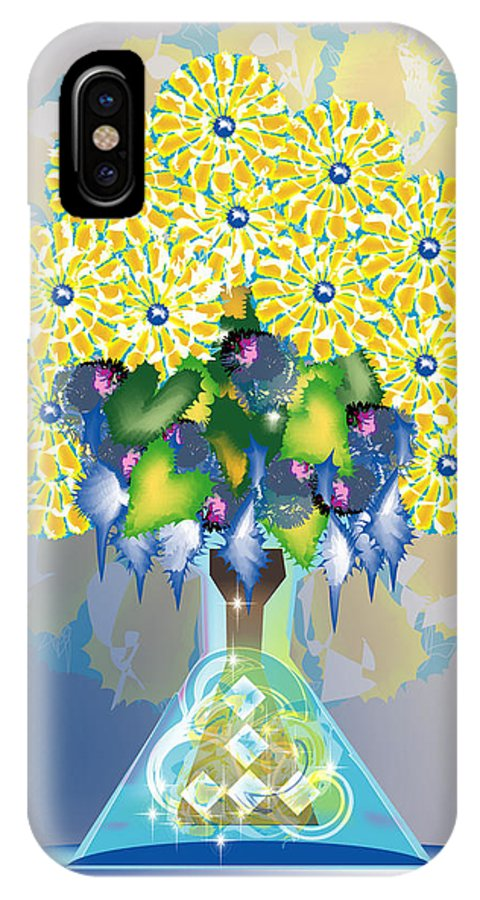 Flowers IPhone Case featuring the digital art Crystal Boquet by George Pasini