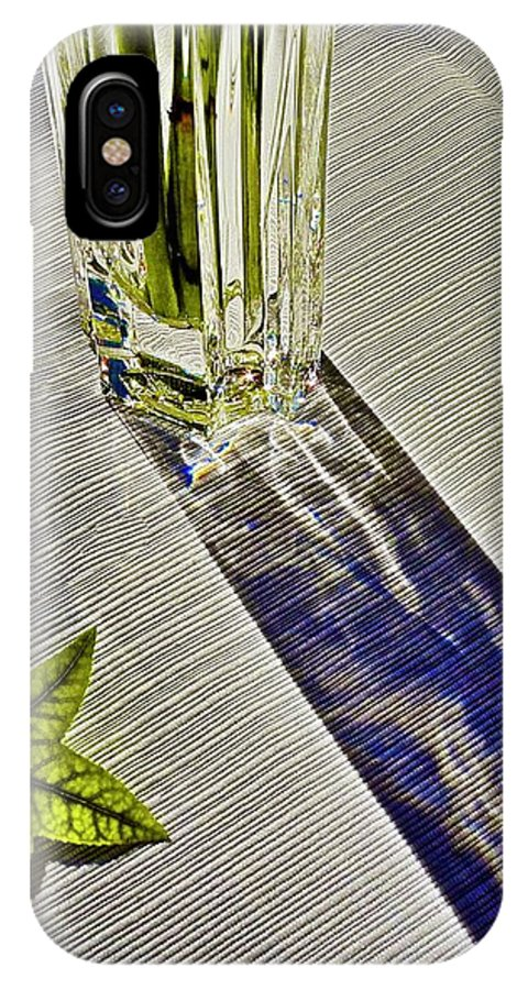 Crystal IPhone X Case featuring the photograph Crystal Reflections by Kirsten Giving