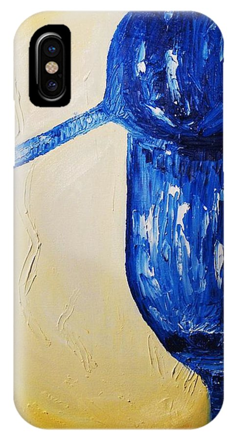 Glass IPhone X Case featuring the painting Crystal Spotlight by Lauren Luna