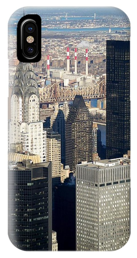 Crystler Building IPhone X / XS Case featuring the photograph Crystler Building by Anita Burgermeister