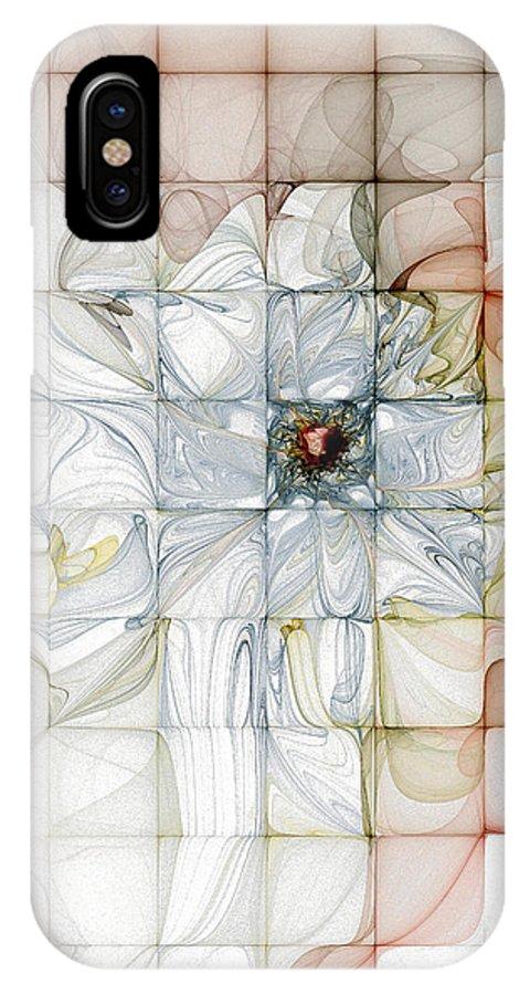 Digital Art IPhone X Case featuring the digital art Cubed Pastels by Amanda Moore