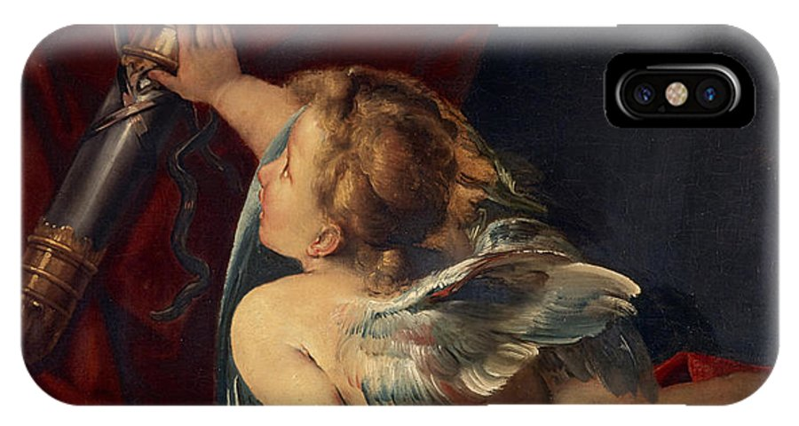 Giulio IPhone X Case featuring the painting Cupid by Giulio Cesare Procaccini