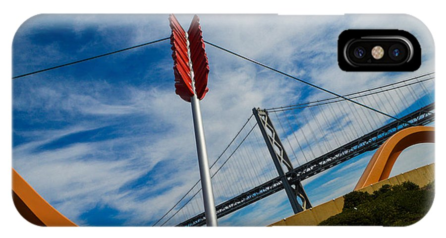 San Francisco IPhone X Case featuring the photograph Cupids Bow And Arrow by Tommy Anderson