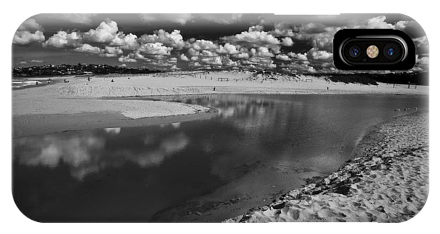 Beach IPhone X Case featuring the photograph Curl Curl Beach With Dramatic Sky by Sheila Smart Fine Art Photography