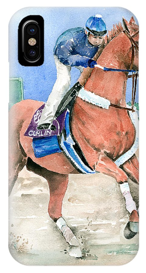 Curlin IPhone X Case featuring the painting Curlin by Arline Wagner