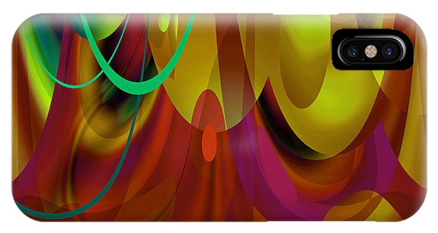 Bright IPhone X Case featuring the digital art Curtain Call by Lynda Lehmann