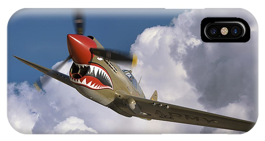 Flying Tigers IPhone X Case featuring the photograph Curtiss P-40n Warhawk by Larry McManus
