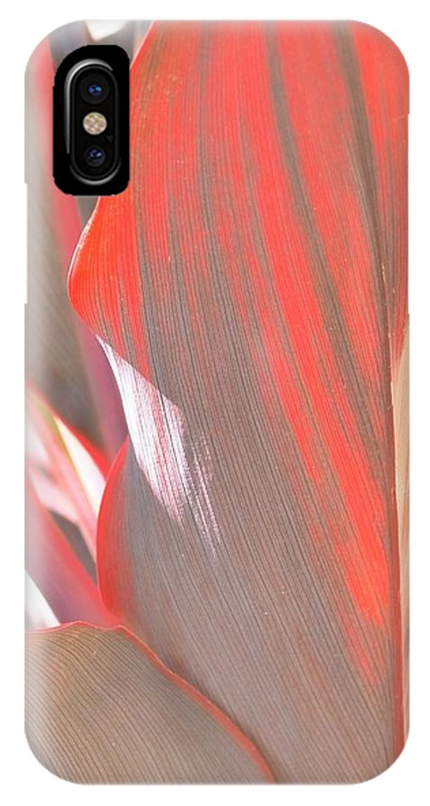Abstract IPhone X Case featuring the photograph Curves Ahead by Florene Welebny