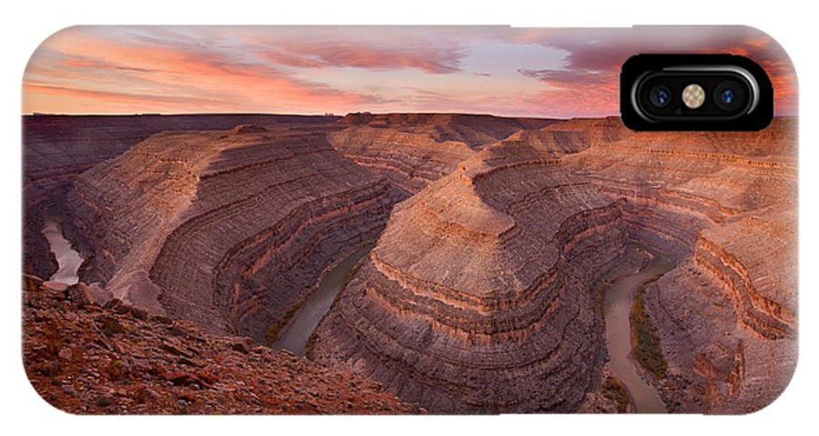 Canyon IPhone X Case featuring the photograph Curves Ahead by Mike Dawson