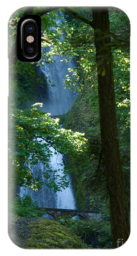 Waterfall IPhone X Case featuring the photograph Curves by Shari Nees