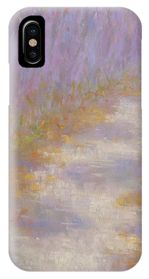Autumn IPhone X Case featuring the painting Curving Road, Late Autumn by Michael Gillespie
