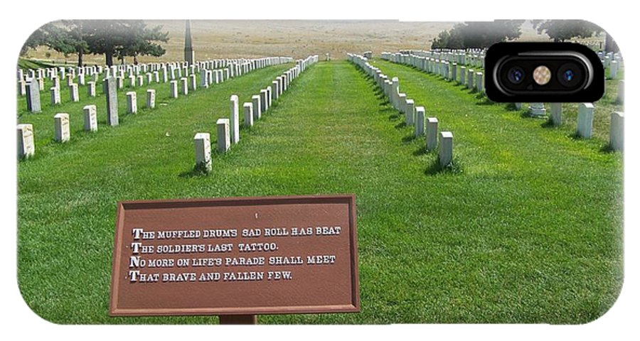 Custer National Cemetery IPhone X Case featuring the photograph Custer National Cemetery by Charles Robinson