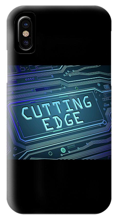 Cutting Edge IPhone X Case featuring the digital art Cutting Edge Concept. by Samantha Craddock
