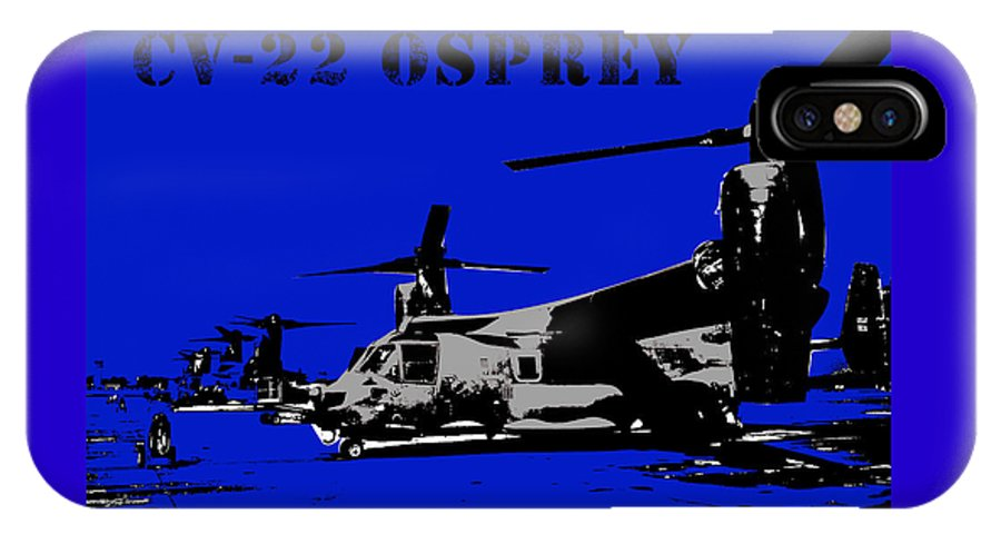 Hurlburt IPhone X Case featuring the digital art Cv-22 Osprey by John Bainter
