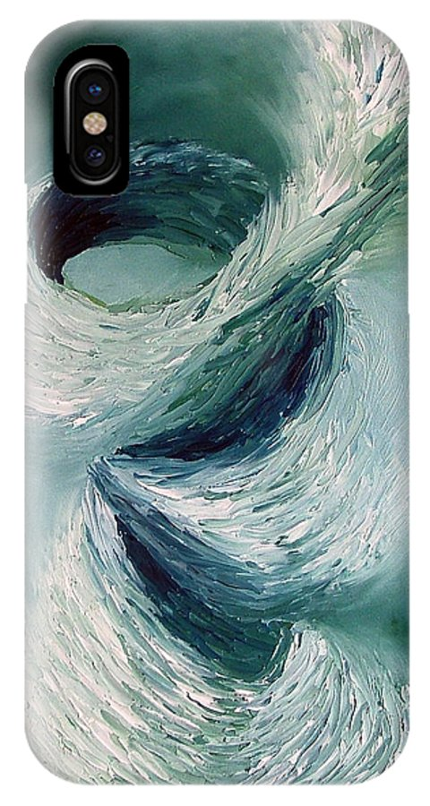 Tornado IPhone Case featuring the painting Cyclone by Elizabeth Lisy Figueroa