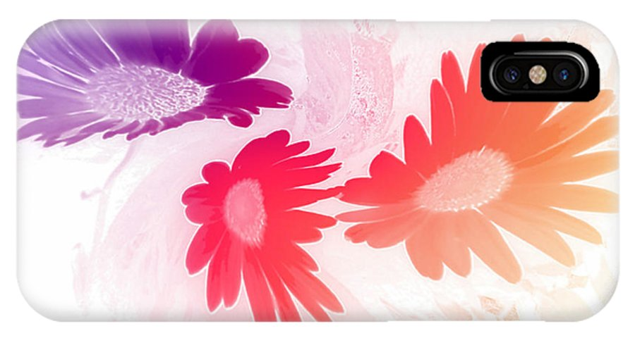 Flower IPhone X Case featuring the digital art Daised by Linda Galok