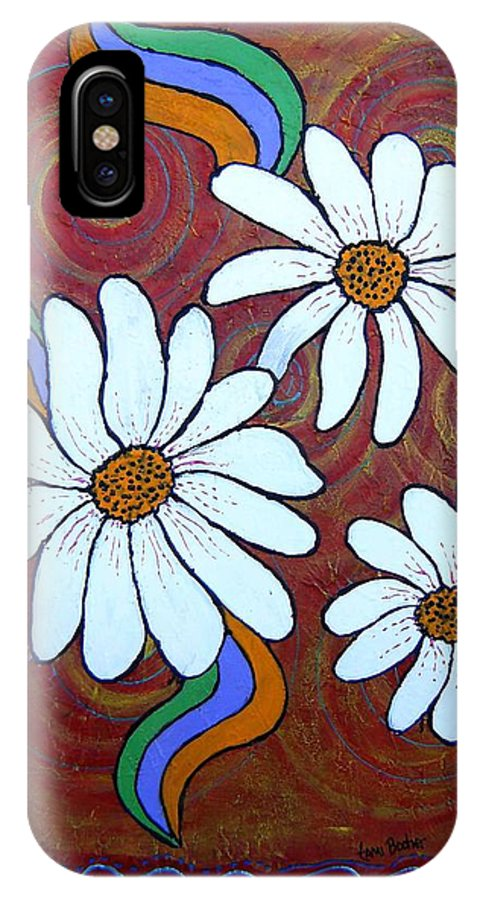 IPhone X Case featuring the painting Daisies Gone Wild by Tami Booher