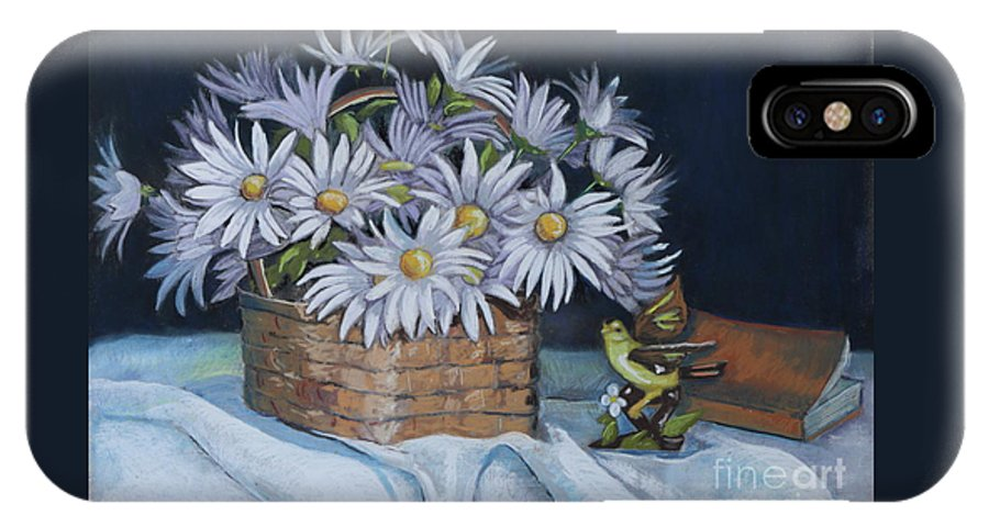 Daisies IPhone X Case featuring the painting Daisies In Still Life by Patty Strubinger