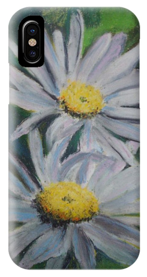 Daisies IPhone X Case featuring the painting Daisies by Melinda Etzold