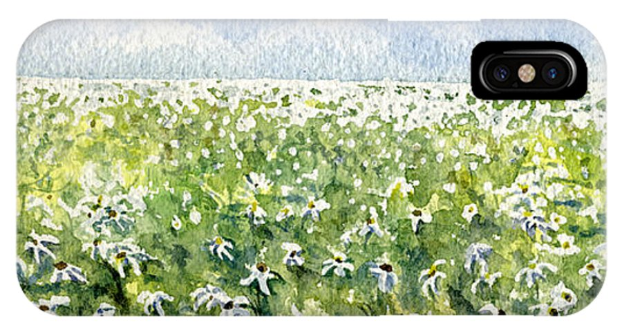 Nature IPhone Case featuring the painting Daisy Field by Mary Tuomi