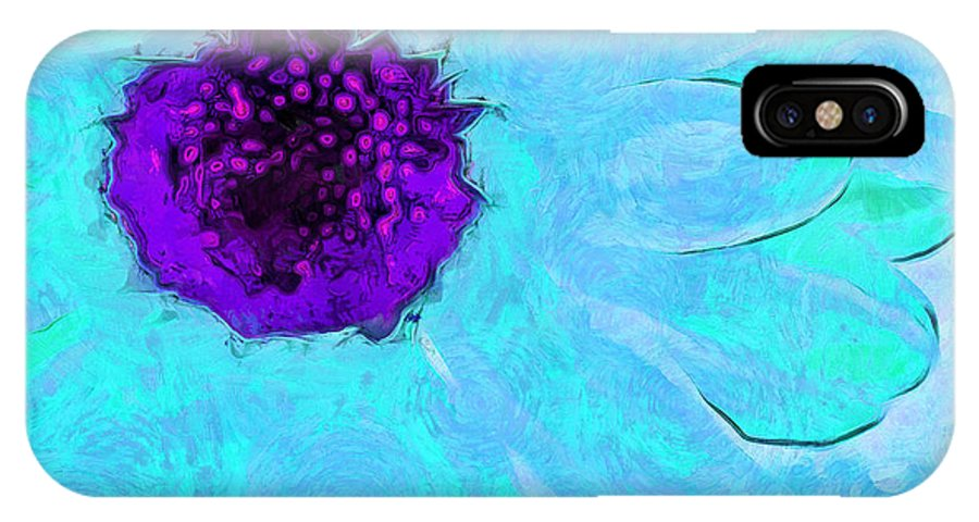 Daisy IPhone X Case featuring the photograph Daisy In Disguise by Krissy Katsimbras
