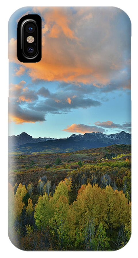 Colorado IPhone X Case featuring the photograph Dallas Divide Sunrise by Ray Mathis