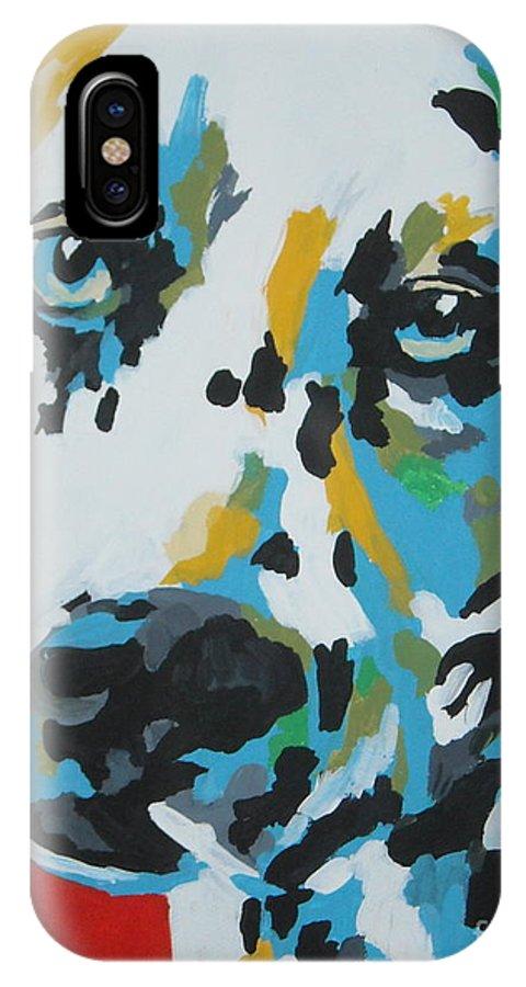 Dalmation IPhone X Case featuring the painting Dalmation by Caroline Davis