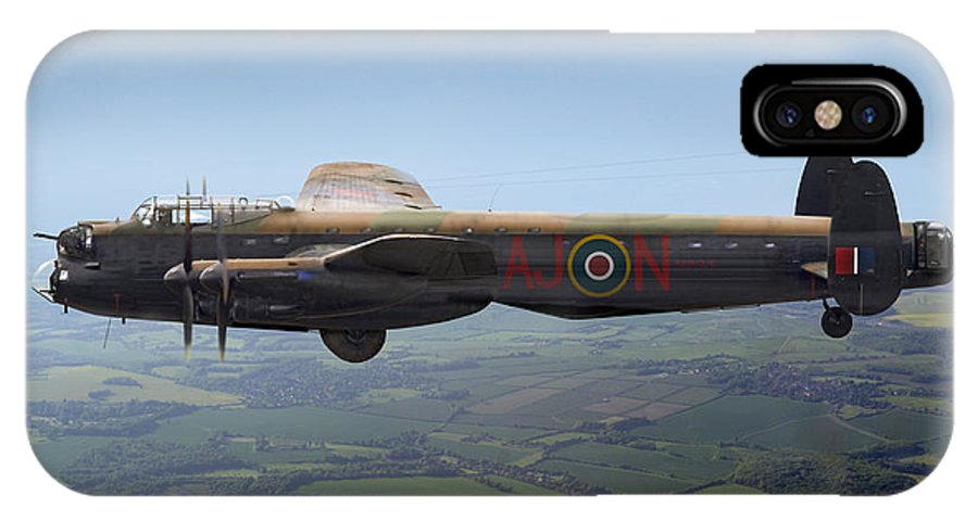 Avro Lancaster IPhone X Case featuring the photograph Dambusters Lancaster Aj-n by Gary Eason