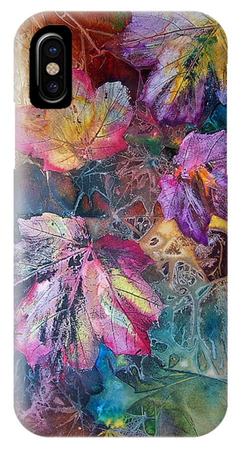 Mixed Media IPhone Case featuring the painting Dance Of Color by Vijay Sharon Govender