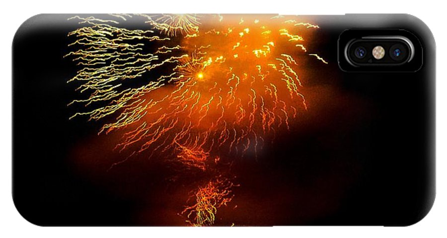 Fireworks IPhone X Case featuring the photograph Dance Of The Fireflies by Kendall Eutemey