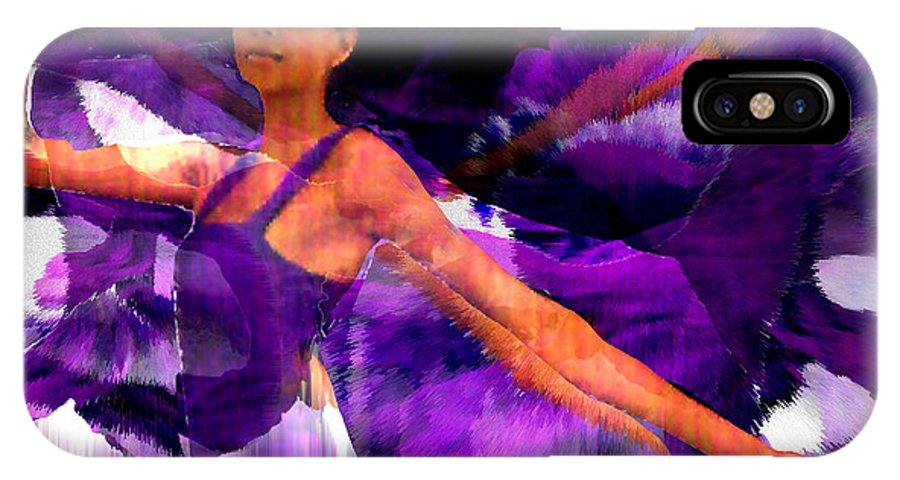 Mystical IPhone X Case featuring the digital art Dance Of The Purple Veil by Seth Weaver