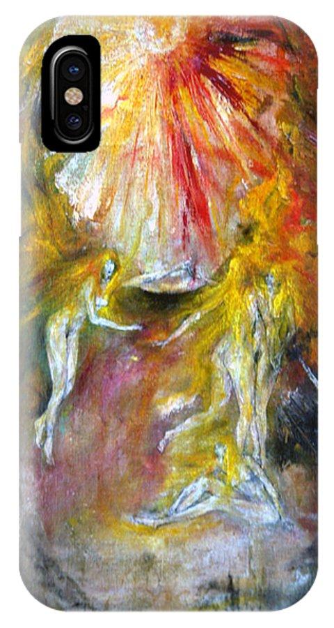 Imagination IPhone X Case featuring the painting Dance by Wojtek Kowalski