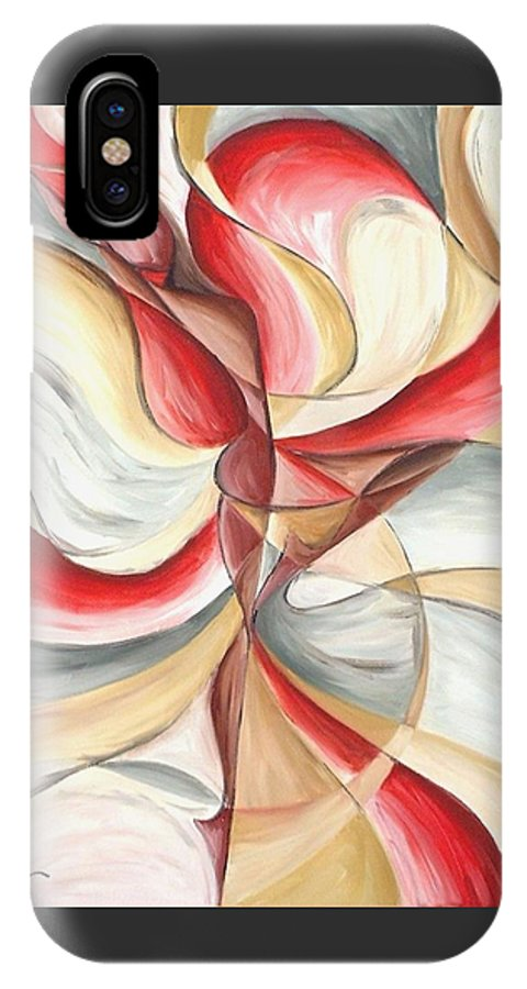 Figure IPhone X Case featuring the painting Dancer II by Rowena Finn