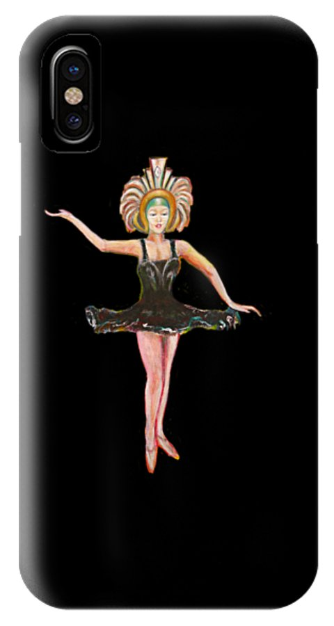 Dance IPhone X Case featuring the painting Dancer in the Black Tutu by Tom Conway