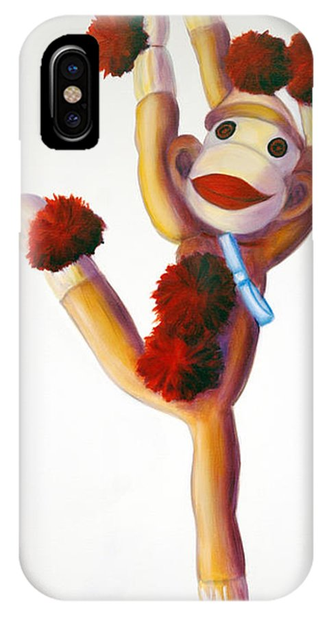 Dancer IPhone X Case featuring the painting Dancer Made Of Sockies by Shannon Grissom