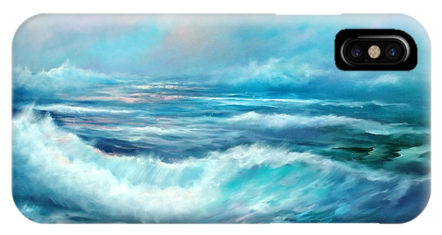 Ocean IPhone X Case featuring the painting Dancing Angels by Sally Seago