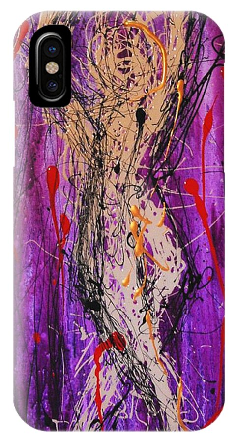 Nude IPhone Case featuring the painting Dancing Figure by Lauren Luna
