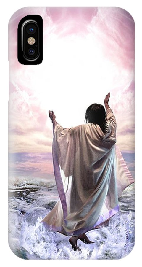 Yeshua IPhone X Case featuring the digital art Dancing For My Father by Bill Stephens