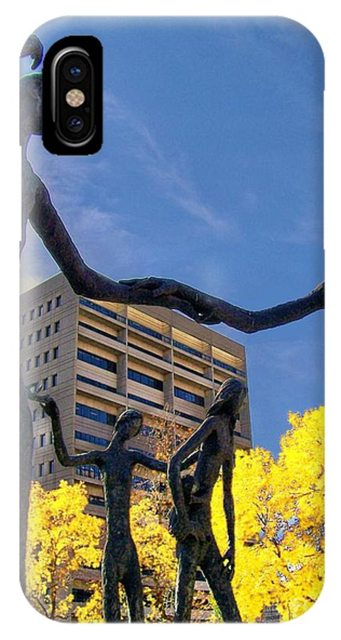 People IPhone X Case featuring the photograph Dancing In The Park by Greg Hammond
