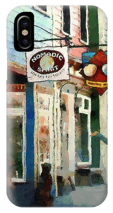 Colorado IPhone X Case featuring the painting Dancing In The Street by RC DeWinter