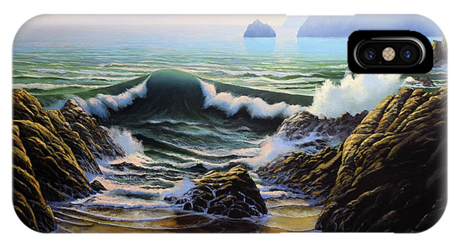 Dancing Tide IPhone X Case featuring the painting Dancing Tide by Frank Wilson