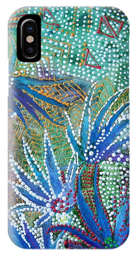 Mixed Media IPhone Case featuring the painting Dancing Weeds by Vijay Sharon Govender